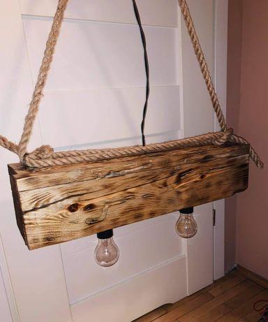 Lampa z drewna naturalnego