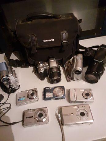 Zestaw starych aparatów