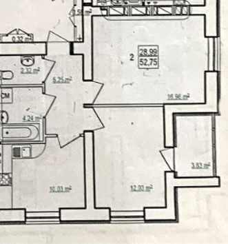 ЖК Сказка! Ппродам 2 комн.кв 4/16 этаж 52,75 кв.м за 43500$ ТА