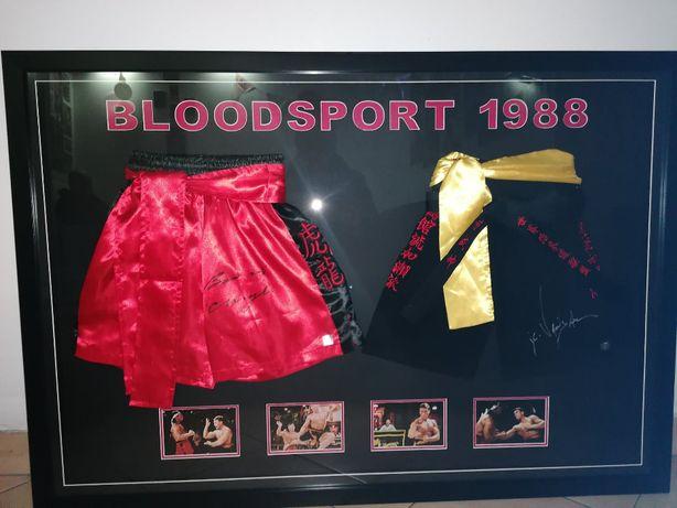 Bloodsport 1988 Autograf VanDam Bolo Yeung na spodenkach ! Rarytas