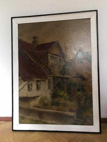 Obraz dom, olejny na płótnie