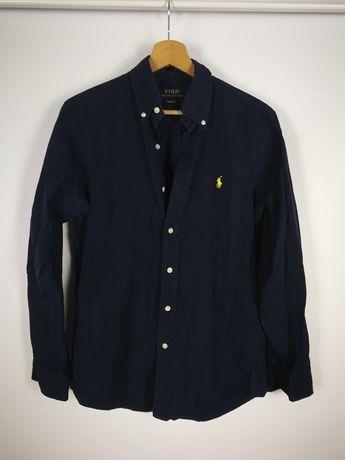 Granatowa koszula Polo Ralph Lauren roz.S Custom Fit 100% bawełna