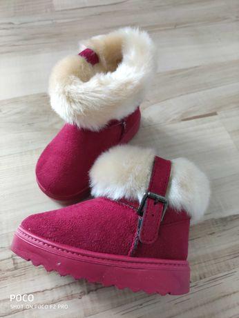 Buty jesienno-zimowe dziecięce kozaki ocieplane