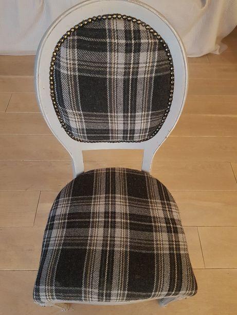 Krzesło Antyk wełniana krata