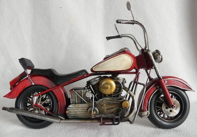 Metalowy MOTOR retro pojazd 35,5 cm