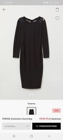 Sukienka ciążowa czarna H&M Mama S