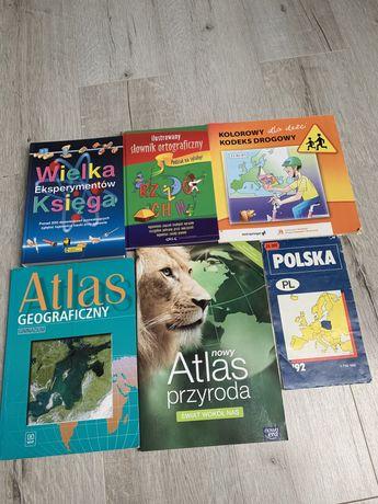 Ksiązki do szkoly. *atlas słownik kodeks drogowy*