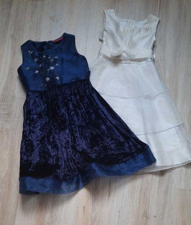 Sukienki eleganckie rozm. 104 i 110