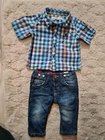 Zestaw koszula i spodnie jeansowe 68
