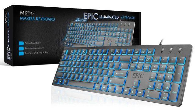 Teclado MKPLUS EPIC Illuminated c/ novo