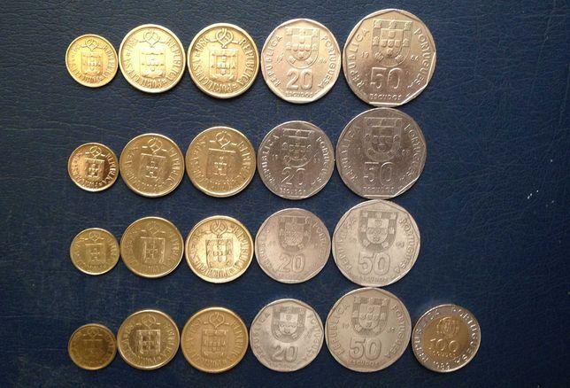 Moedas Portugal - completo - 1986/1987/1988/1989/1998/1999/2000/2001