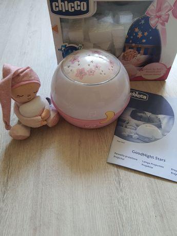 Розовый ночник Chicco (светильник для девочки Чико)