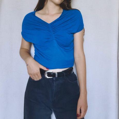 Sweterkowa niebieska bluzka Solar