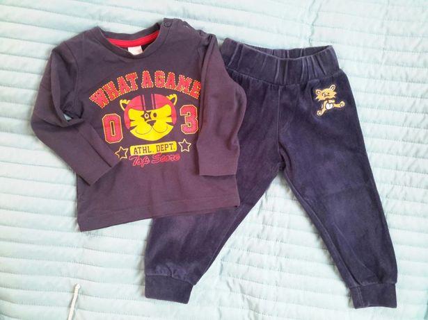 Komplet spodnie bluzka Lupilu C&a 74cm dla chłopca bdb+