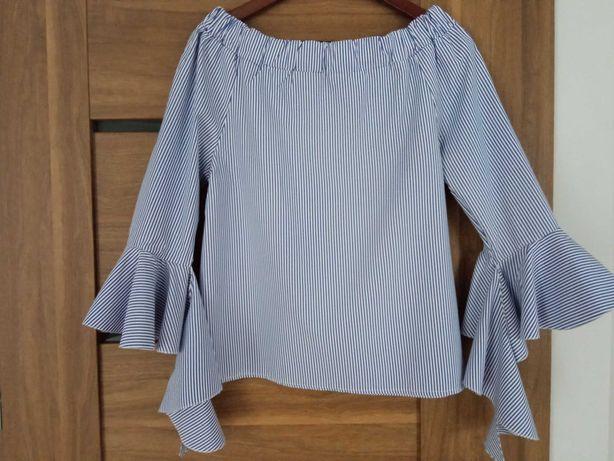 Koszulowa bluzka w paski