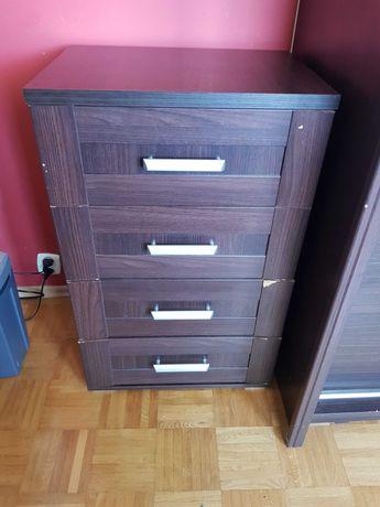 Duża szafa, duże biurko, 2x szafka