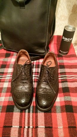 Броги лоферы оксфорды туфли Zara натуральная кожа!