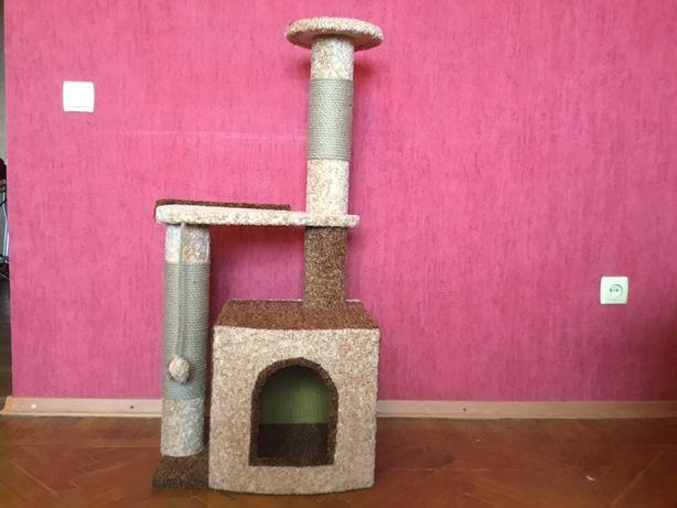Домик-комплекс для кошки,кота с когтеточкой (когтедралкой).