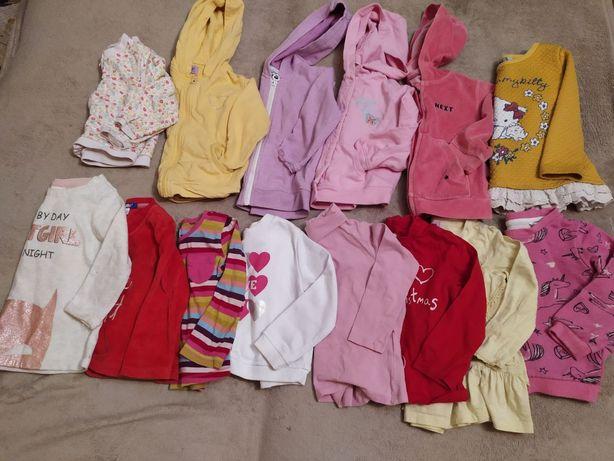 Пакет, набор одежды для девочки 1-2 года, кофты, регланы, свитшоты.