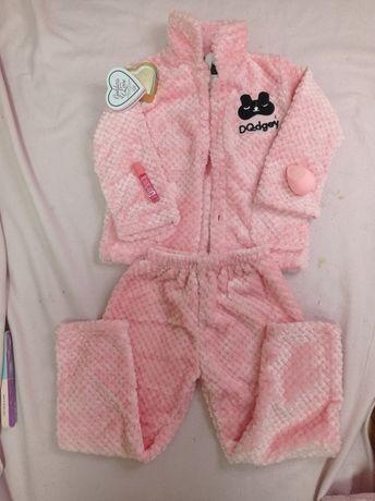 Дитяча піжамка рожева флісова