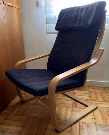 Poltrona PELLO preta , Holmby - IKEA original - bom estado!
