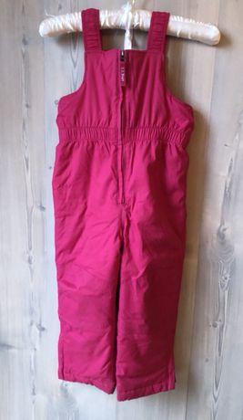 Super ciepły kombinezon - spodnie narciarskie dla 4-latki