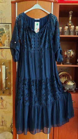 Italiano ,Sassofono шелковое 100 % платье .Премиум! 48-54