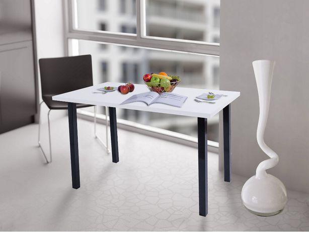 Stół kuchenny 90x50x38 Biały Mat n. kwadrat