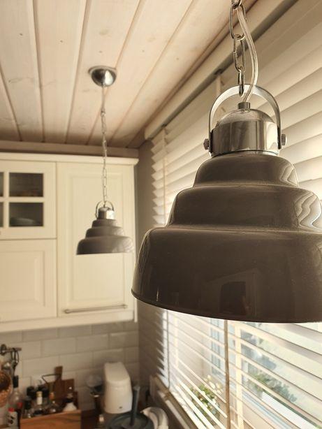 Zestaw lamp sufitowych szare loft