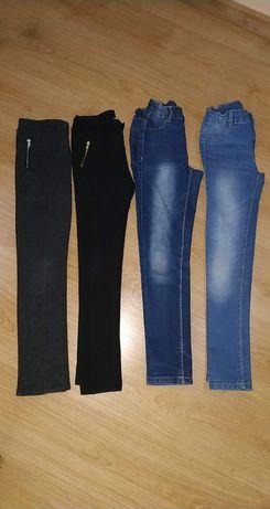 Spodnie jeansy r 134
