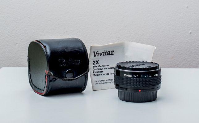 Tele conversor VIVITAR X2 p/ Olympus OM