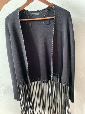 Sweter kardigan z fredzlami zara M