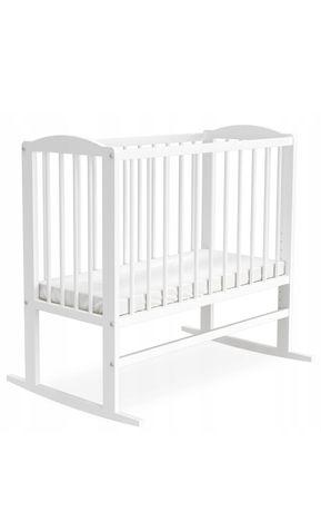 Kołyska biała drewniana dla dziecka