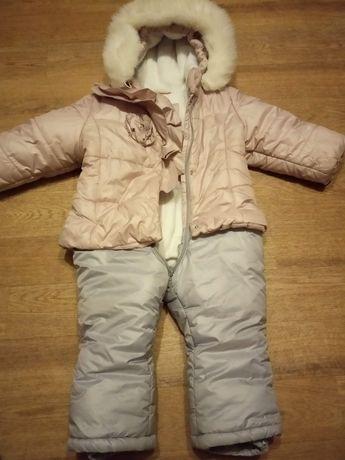 Продам зимний комбинезон на девочку, размер 86