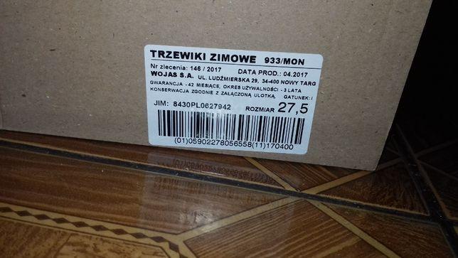 Buty wojskowe, trzewiki zimowe wzór 933, roz. 27.5
