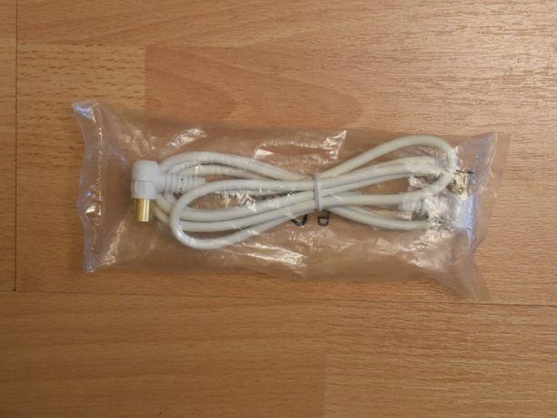 Kabel antenowy koncentryczny, wtyki kątowe, męski – męski, dłg. 1 m