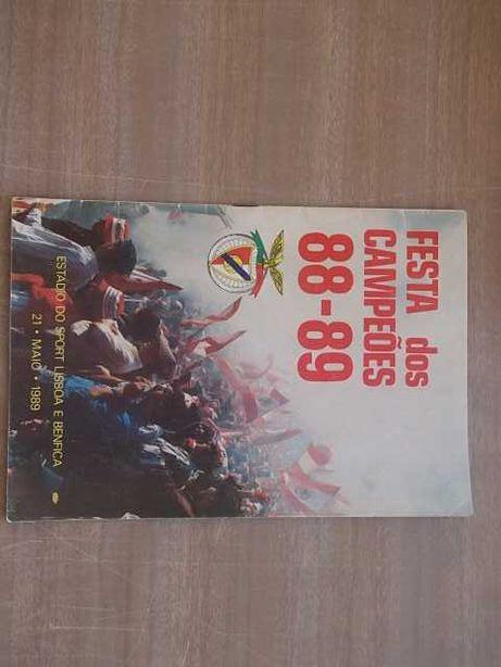 RARO -BENFICA PROGRAMA FESTA DOS CAMPEÕES 88/89 Último Jogo c/BOAVISTA