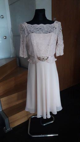 Jenny Packham r.40 L suknia ślubna dla młodej lub świadkowej jak nowa