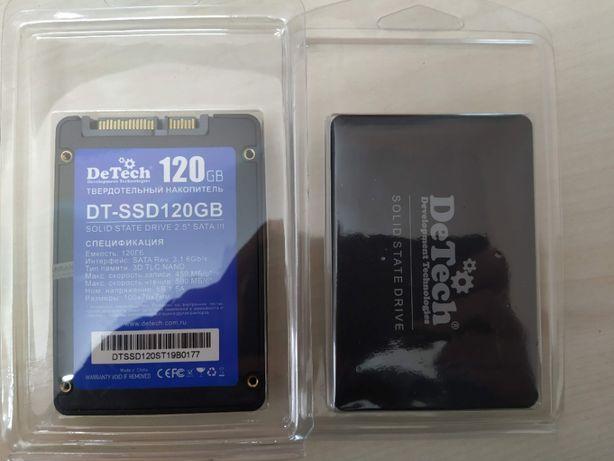 Новые с ГАРАНТИЕЙ SSD диски 120Gb DeTech DT-SSD120Gb за 1900 руб