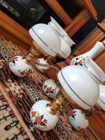 PRZEPIĘKNY MOSIĘŻNY żyrandol porcelanowy żyrandol lampa wisząca