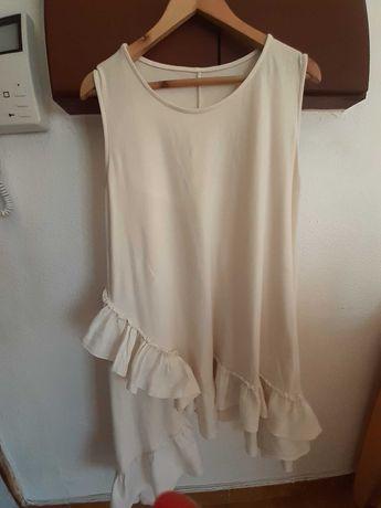 Vestido branco cru (port.incluidos)