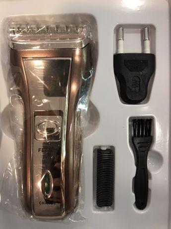 Barbeador recarregável masculino em prata