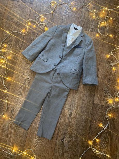 Костюм на мальчика 2-3 года классика брюки желетка пиджак рубашка next