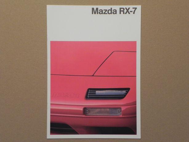 Prospekt - MAZDA RX-7 - COUPE + CABRIOLET - 1990 r