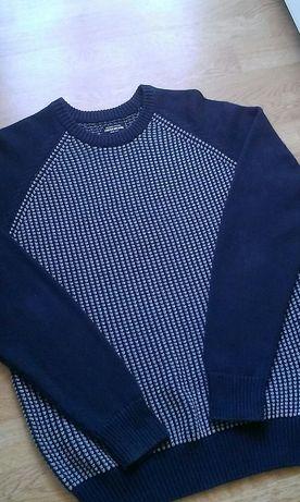Свитер,пуловер,свитшот.РазмерXL.Цвет сине-серый.