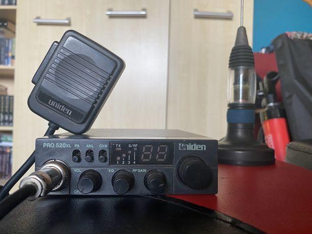 CB radio Uniden Pro 520XL + Antena