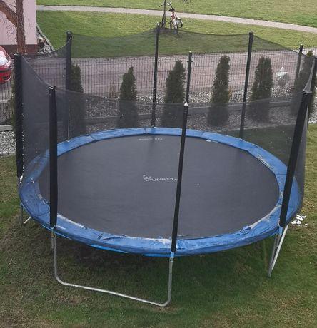 REZERWACJA Duża trampolina / batut - 404 cm z siatką i drabinką