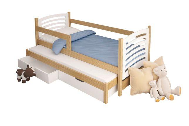 Łóżko 2-poziomowe OLUŚ z szufladami. Dostawa oraz materace GRATIS !