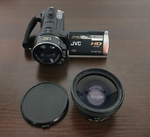 Kamera JVC Everio GZ-HM400 + obiektyw szerokokątny + statyw + gratisy!