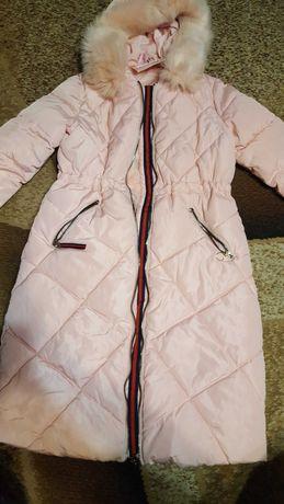Куртка довга ,рожева
